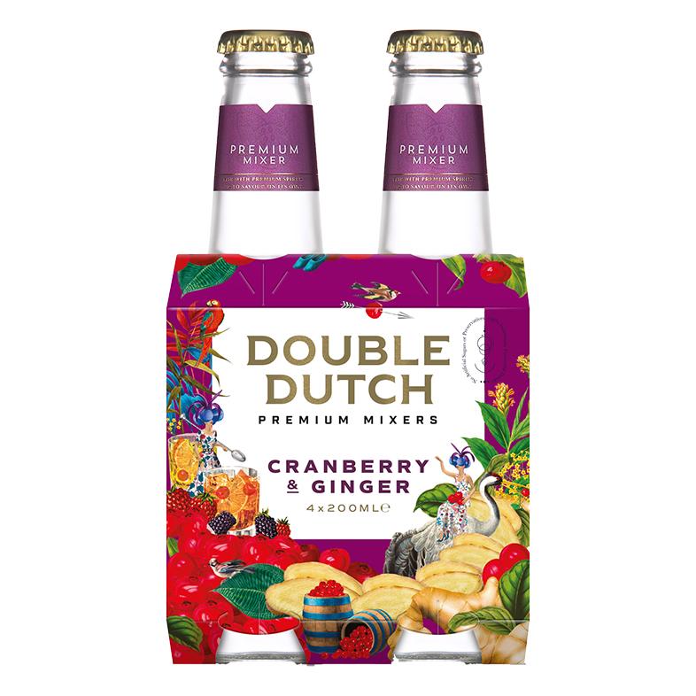 double dutch Cranberry & Ginger 4 x 200ml
