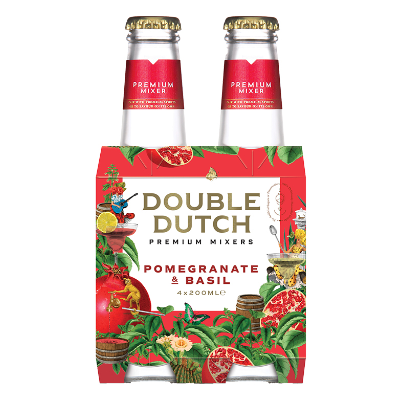 Double Dutch Pomegranate & Basil Mixer 4 x 200ml