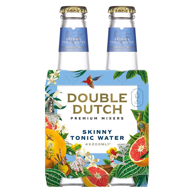 double dutch Skinny Tonic Water 4 x 200ml